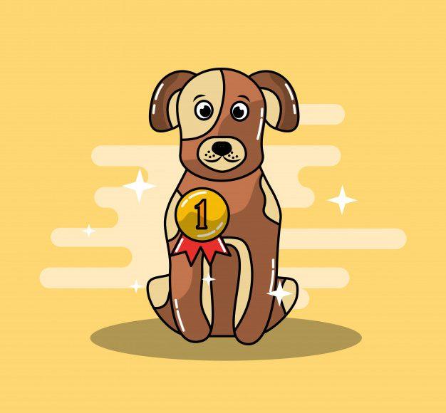 cartoon-dog-champion-winning-gold-medal_24908-12953